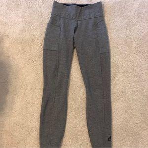 •NIKE• Gray Jogger Style Legging side pockets SZ S